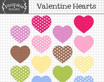 Scrapbook hearts.