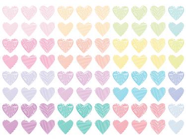 Pastel Hearts Clipart.