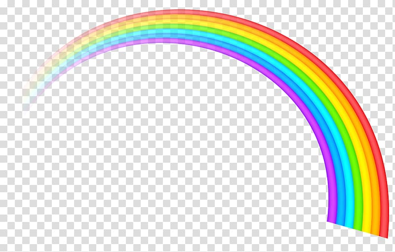 Rainbow ROYGBIV , Pastel Rainbow transparent background PNG.
