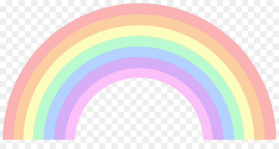 pastel rainbow clipart #5
