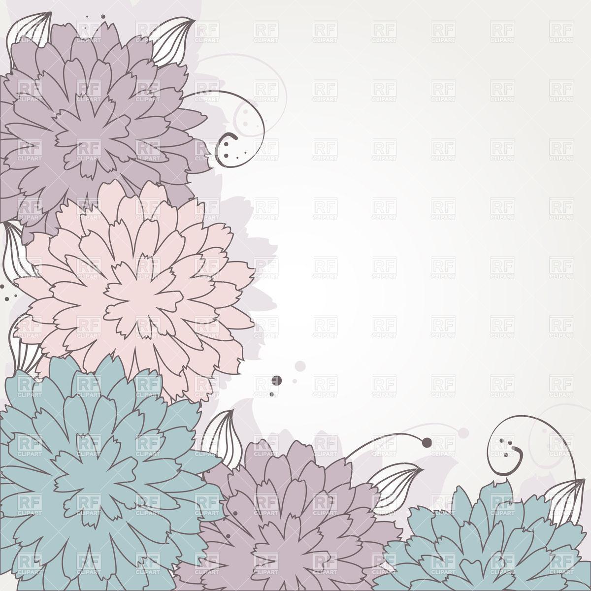 Flower clipart pastel color.