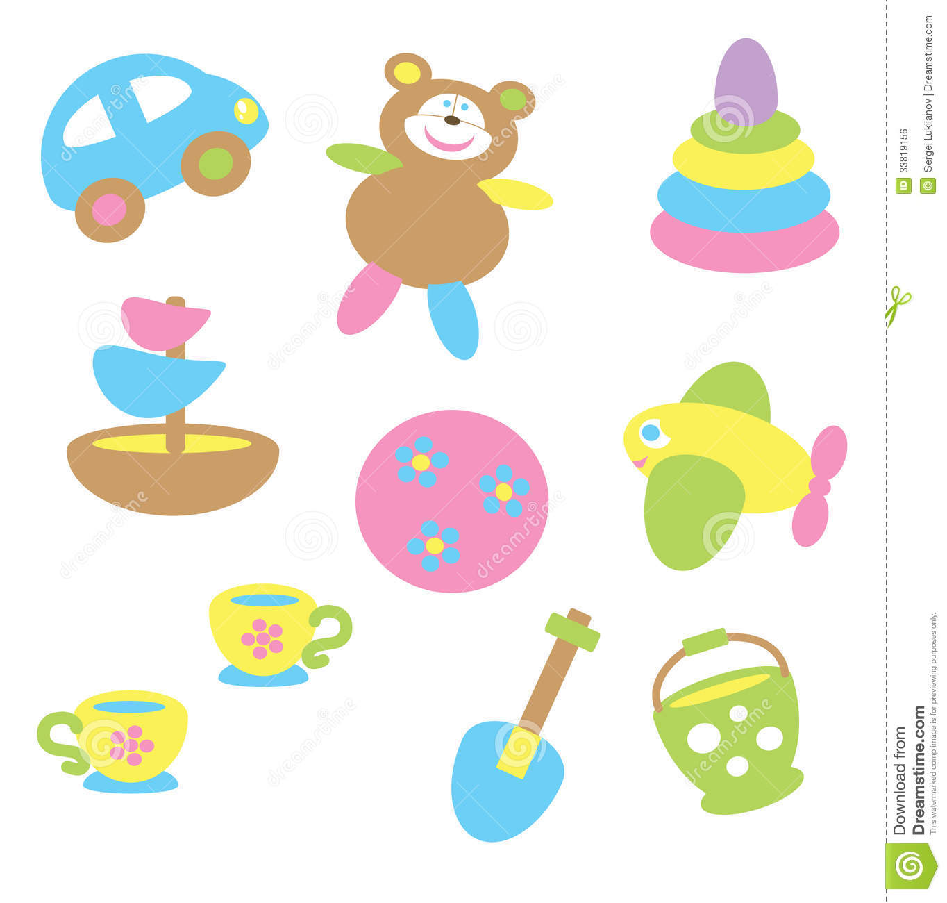 Baby Toys Clip Art : Pastel tones clipart clipground