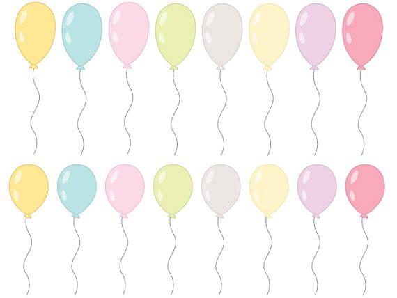 32 Pastel Balloon Clipart Vector Ballon Clipart Pastel.