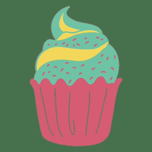Cupcake sweet pastel food.