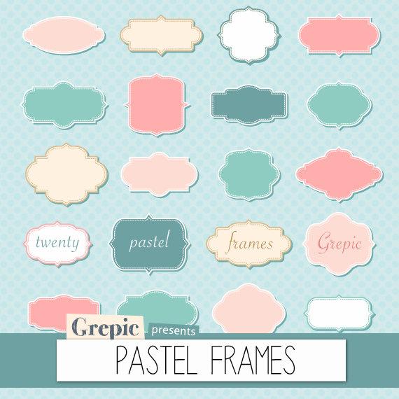 Pastell Rahmen Clipart: digitale Bilder PASTEL Bilder von Grepic.