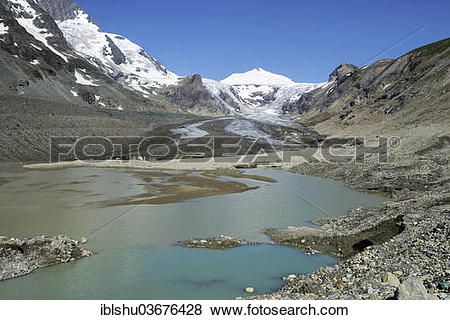 """Pictures of """"Glacial lake from the Pasterze Glacier, Mt."""