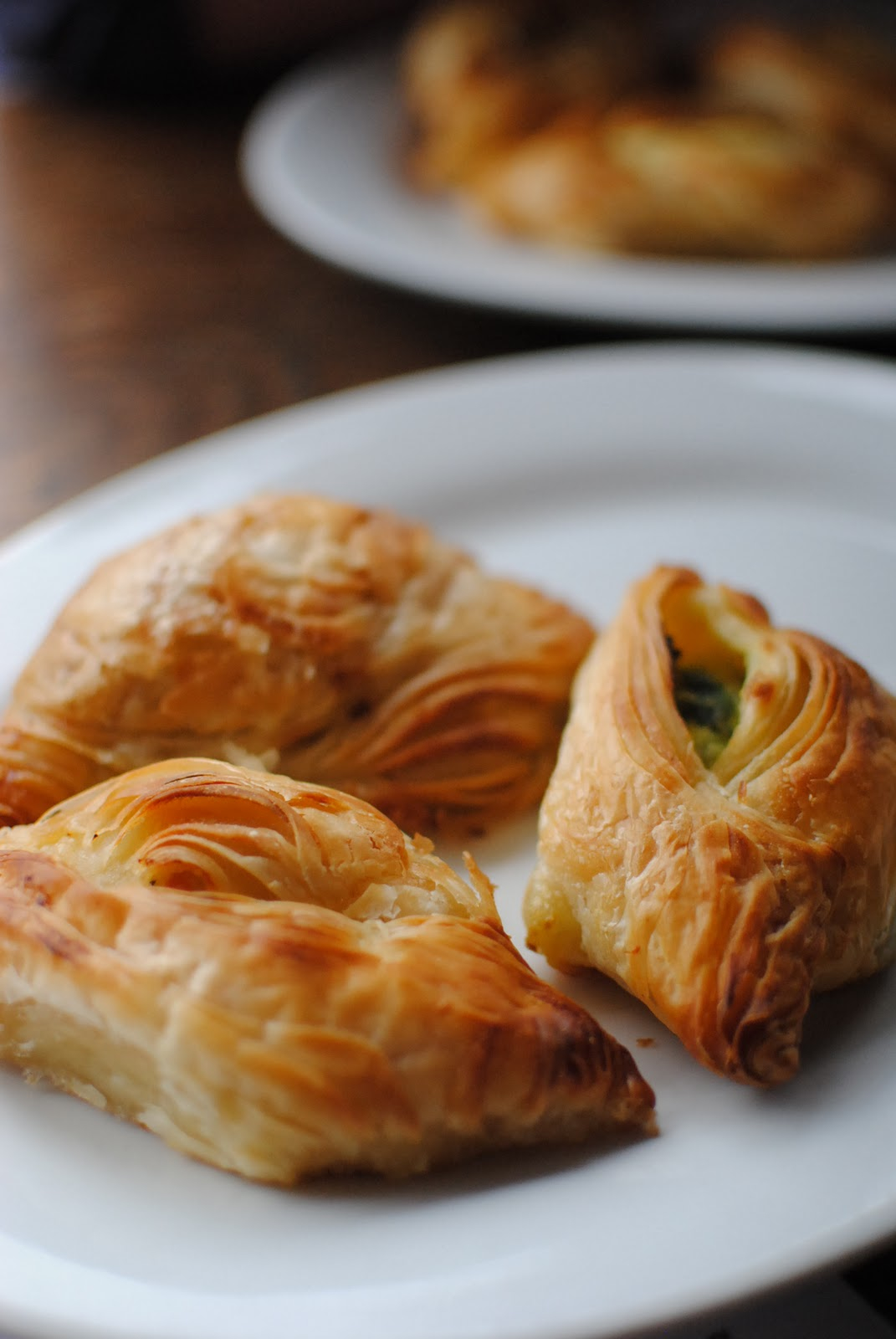 Pastizzi usually have a filling either of ricotta or of mushy peas.