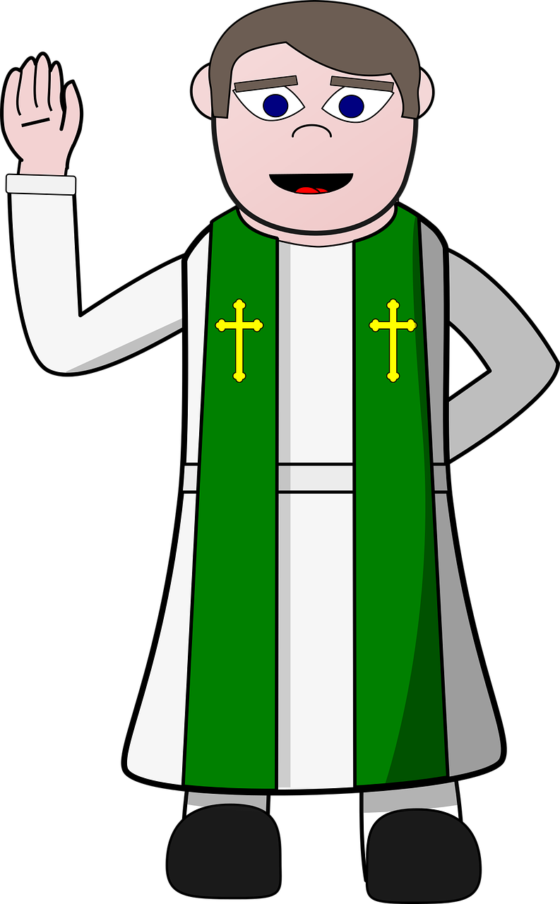 Pastor,priest,christian,cartoon,clip.