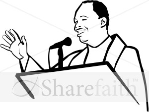 African American Pastor Clipart.