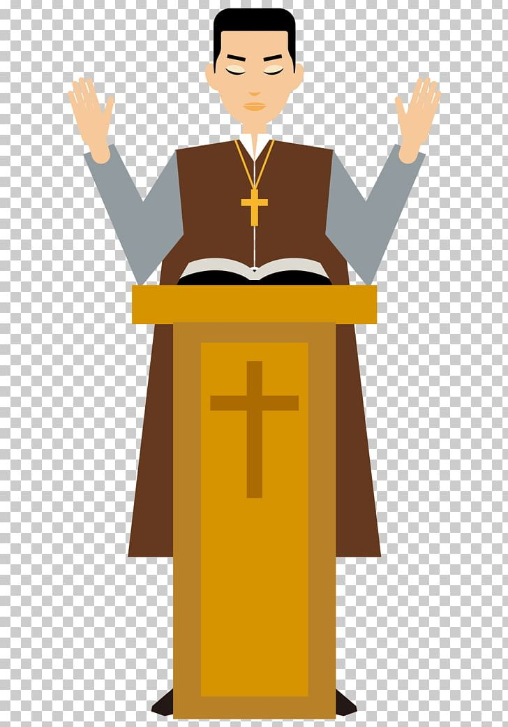 Cartoon Pastor Priest Illustration PNG, Clipart, Adobe.