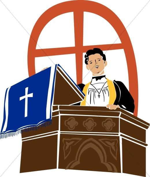 Preacher on a Pulpit.