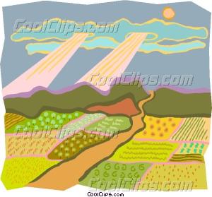 pastoral scene Vector Clip art.