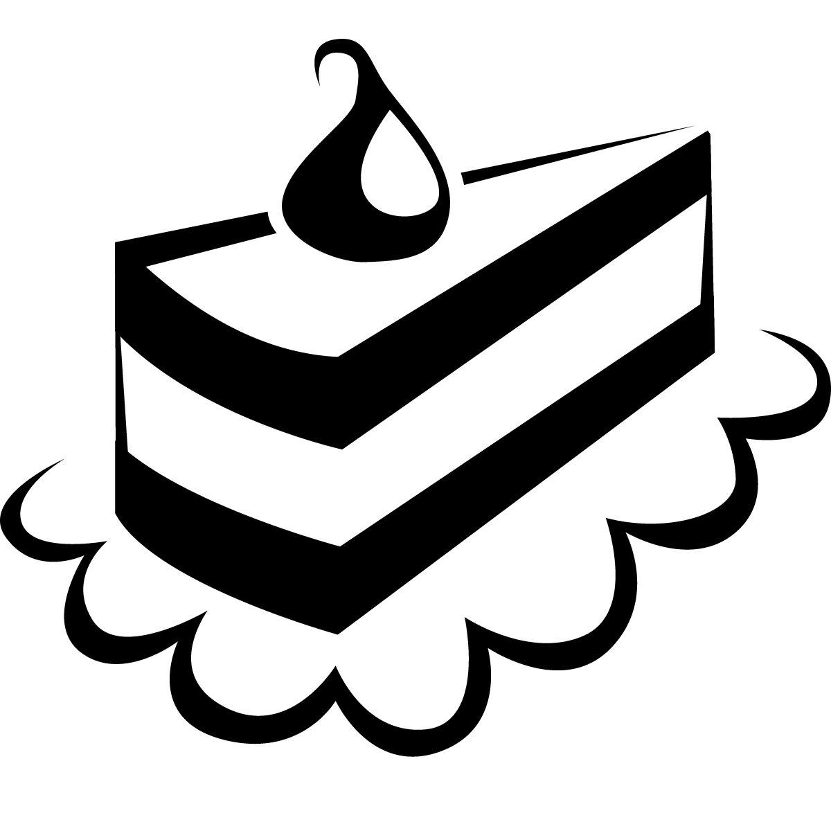 Free Cake Slice Clipart Black And White, Download Free Clip.