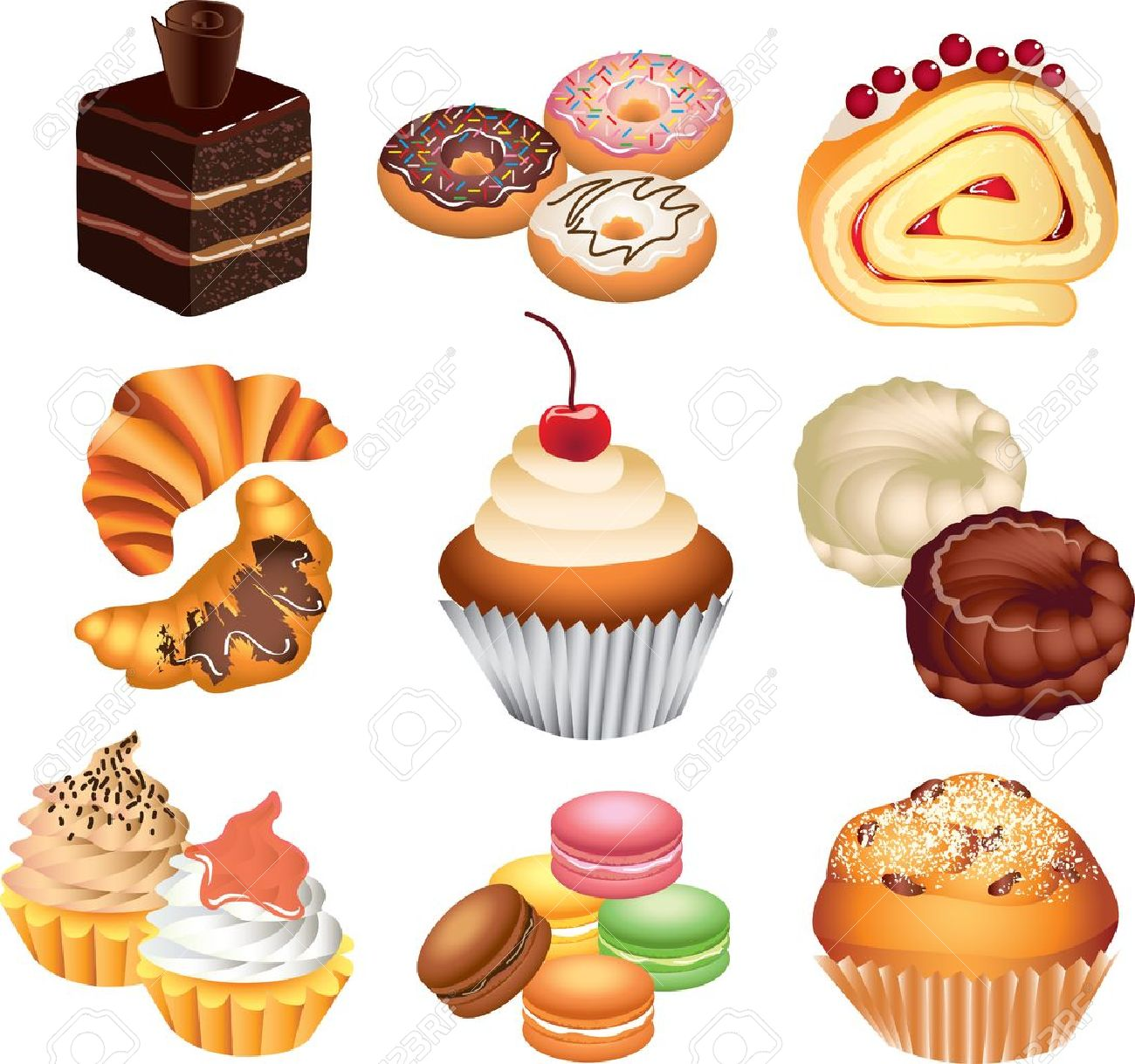Pastries clipart 12 » Clipart Station.