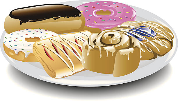 Danish Pastry Clip Art, Vector Images & Illustrations.