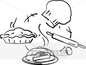 Pastry Chef Tools Clipart.