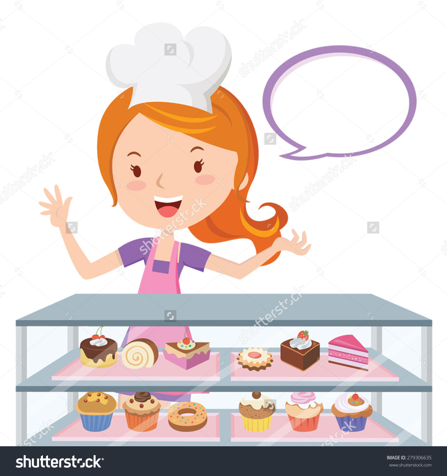 Pastry Chef Clipart.