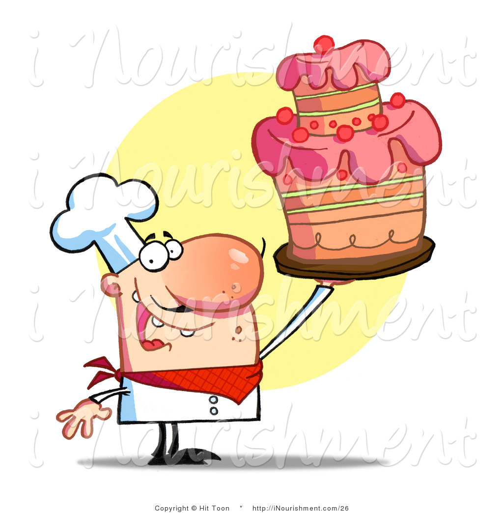 Male Pastry Chef Clipart.