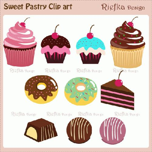 Pastry Clipart.