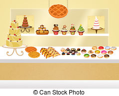 Pastry shop Clipart and Stock Illustrations. 6,714 Pastry shop.