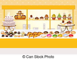 Pastry shop Clipart and Stock Illustrations. 7,107 Pastry shop.