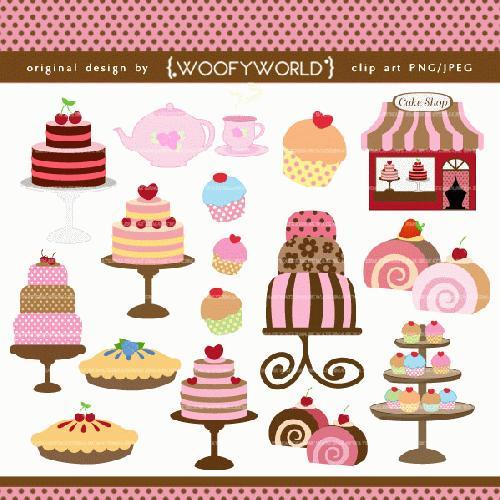Pastry Shop Clipart.