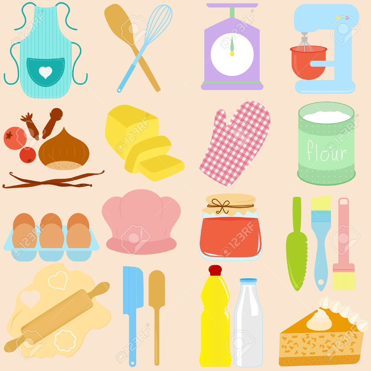 Pastry Utensils Clipart Clipground
