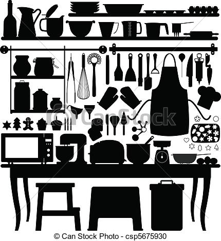 Vector Clipart of Baking Pastry Kitchen Tool.