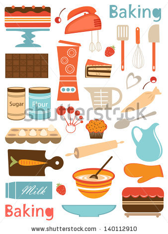 Baking Tools Stock Images, Royalty.