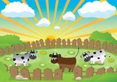 Pasture Stock Illustrations.