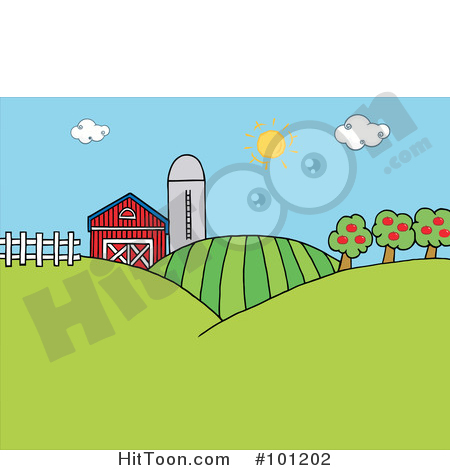 Pasture Clipart #1.