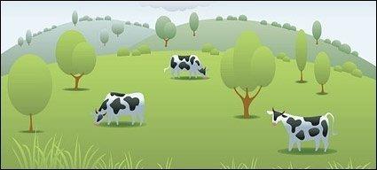 Cow Pasture Clipart.