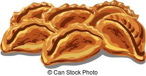 Cornish pasty Vector Clipart Illustrations. 3 Cornish pasty.
