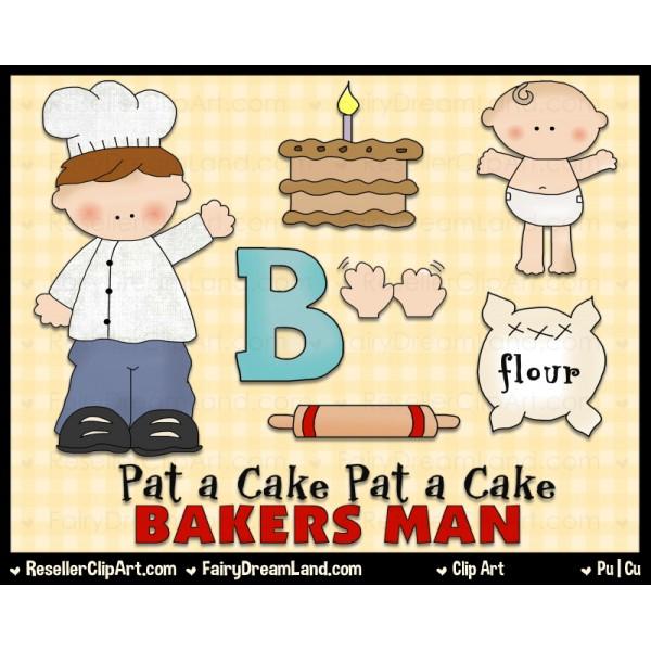 Pat A Cake Clip Art by Cheryl.