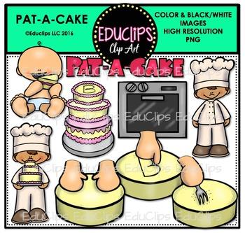 Pat A Cake Nursery Rhyme Clip Art Bundle {Educlips Clipart}.