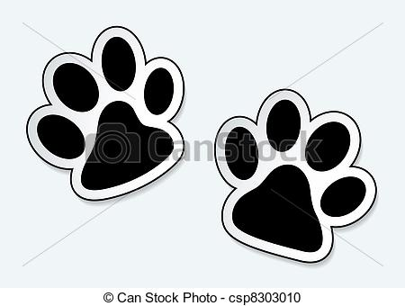 Vector Clipart of Pet paw prints.
