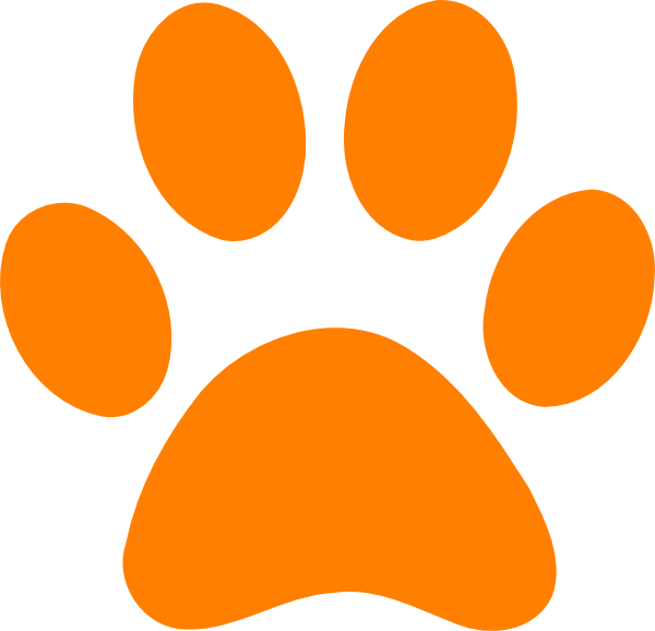 Orange Paw Print Clip Art at Clker.com.