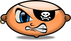 Pirate Patch Clipart.