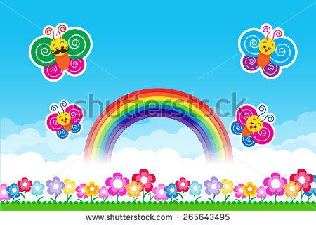 Rainbow Butterfly Stock Photos, Royalty.