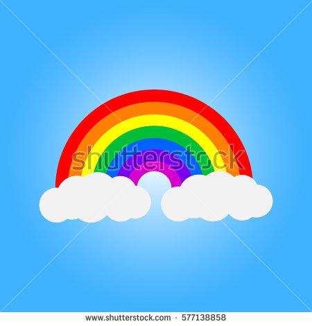 Rainbow Stock Photos, Royalty.