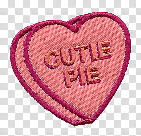 pink cutie pie patch transparent background PNG clipart.