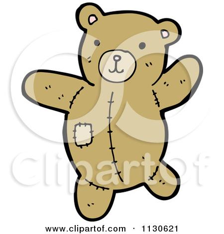 Cartoon Of A Ripped Up Teddy Bear 3.