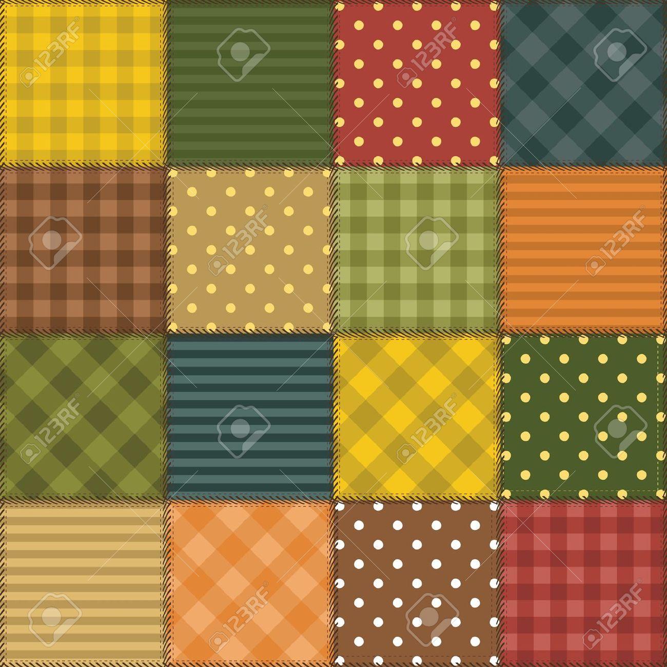 Clip Art Patchwork Quilts.