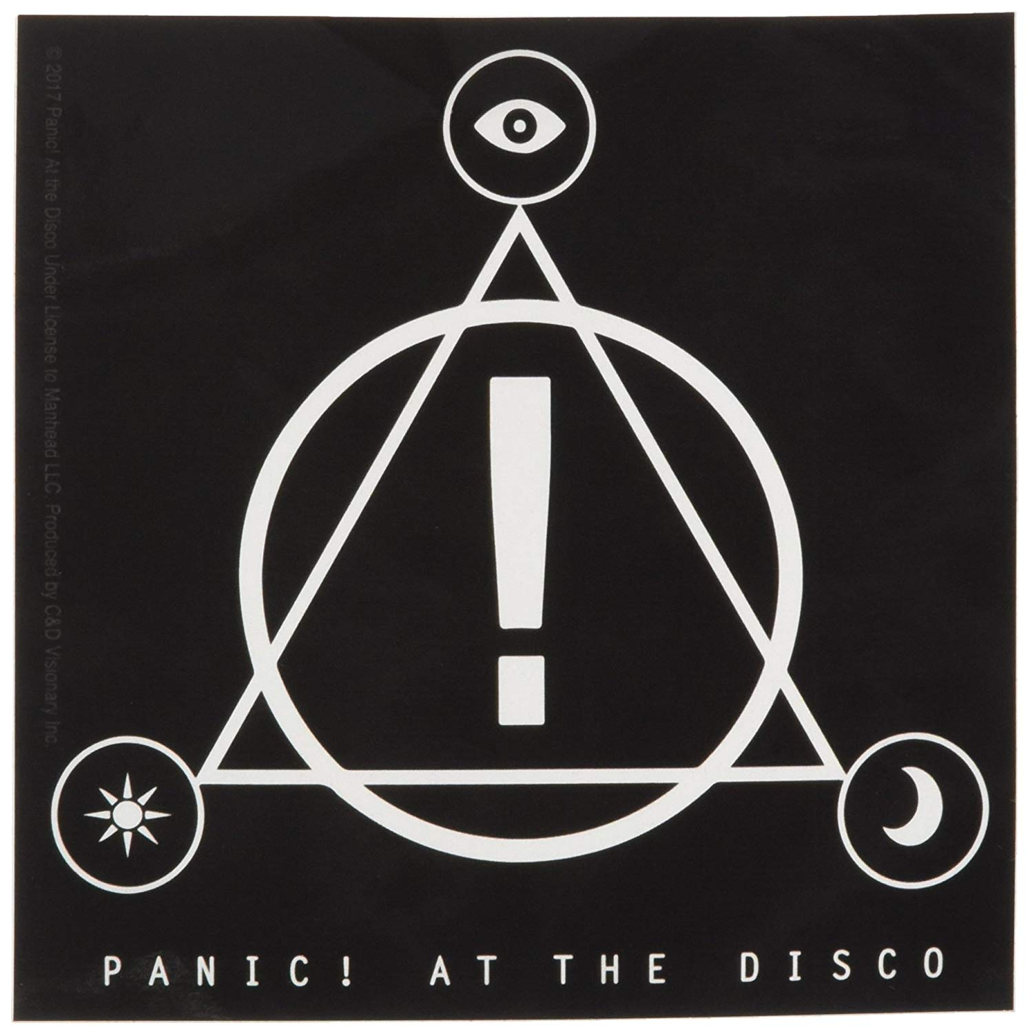 Buy C&D Visionary Panic at The Disco Triangle Logo Sticker.