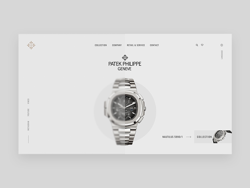 Patek Philippe by Vlad Kryvko on Dribbble.