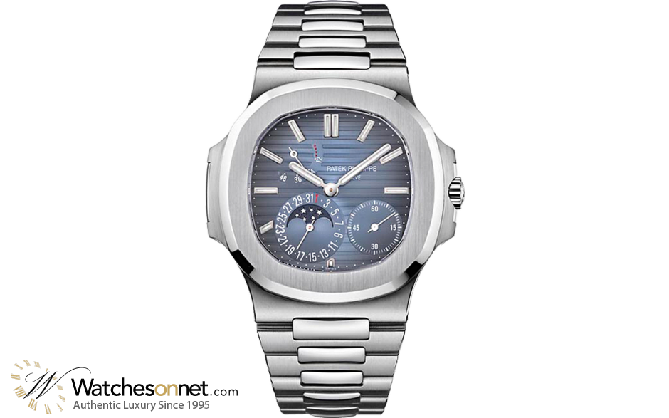 Patek Philippe Nautilus Limited Edition Automatic With Power Reserve Men\'s  Watch, Stainless Steel, Blue Dial, 5712.