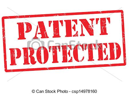 Clip Art Vector of Patent protected stamp.