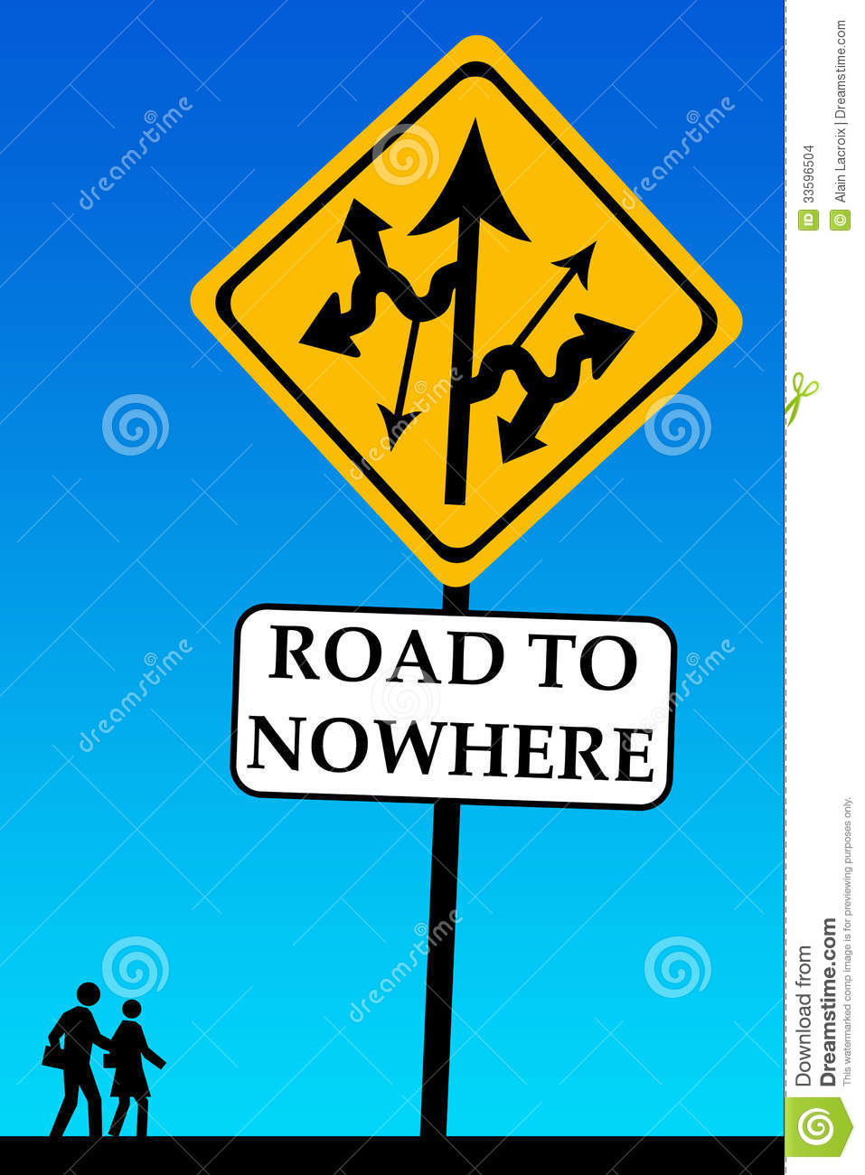 Road To Nowhere Stock Images.