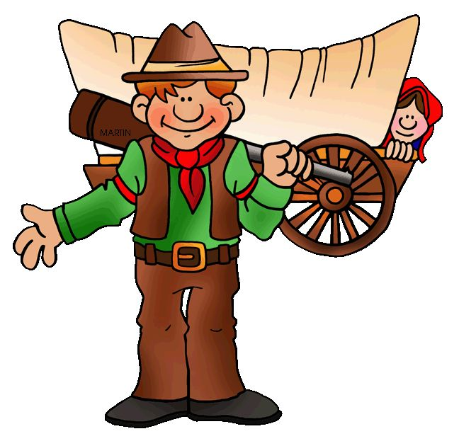 Pioneer pathfinder man clipart.