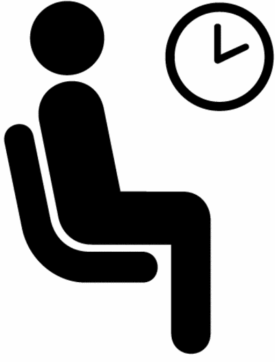 Waiting patiently clipart.